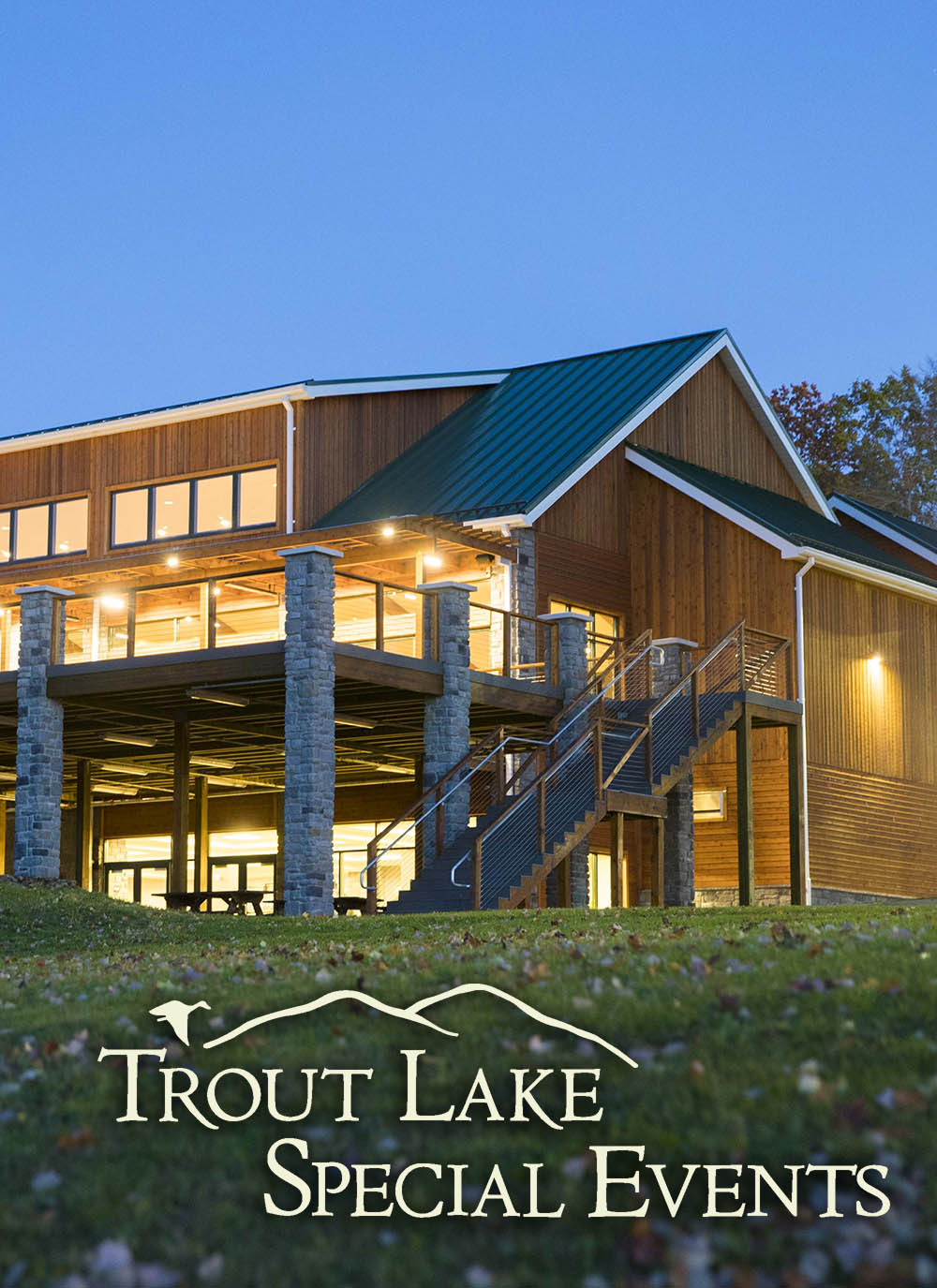 trout lake special events lit up at night